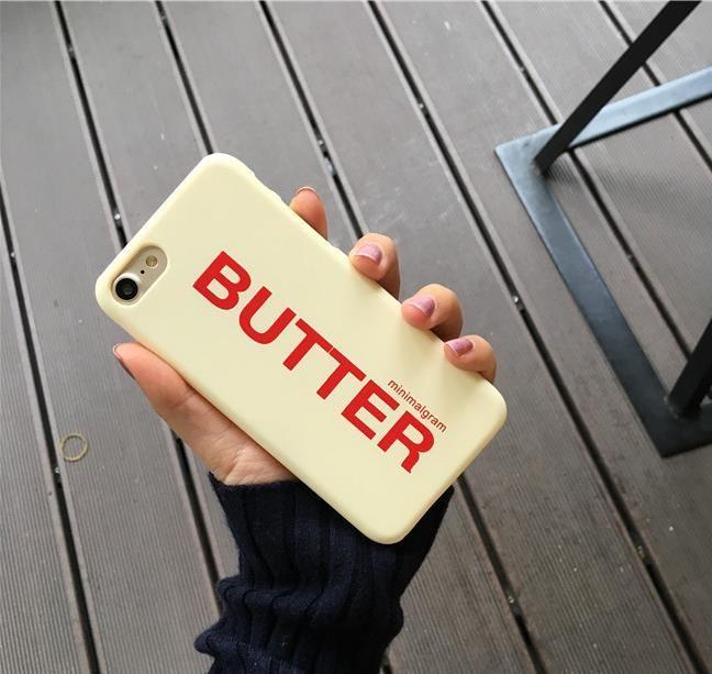 Butter Phone Case für iPhone 7 6 6S Plus-bereifte harte Telefon-Beutel für iPhone 6S verlässt rückseitige Abdeckung Shell