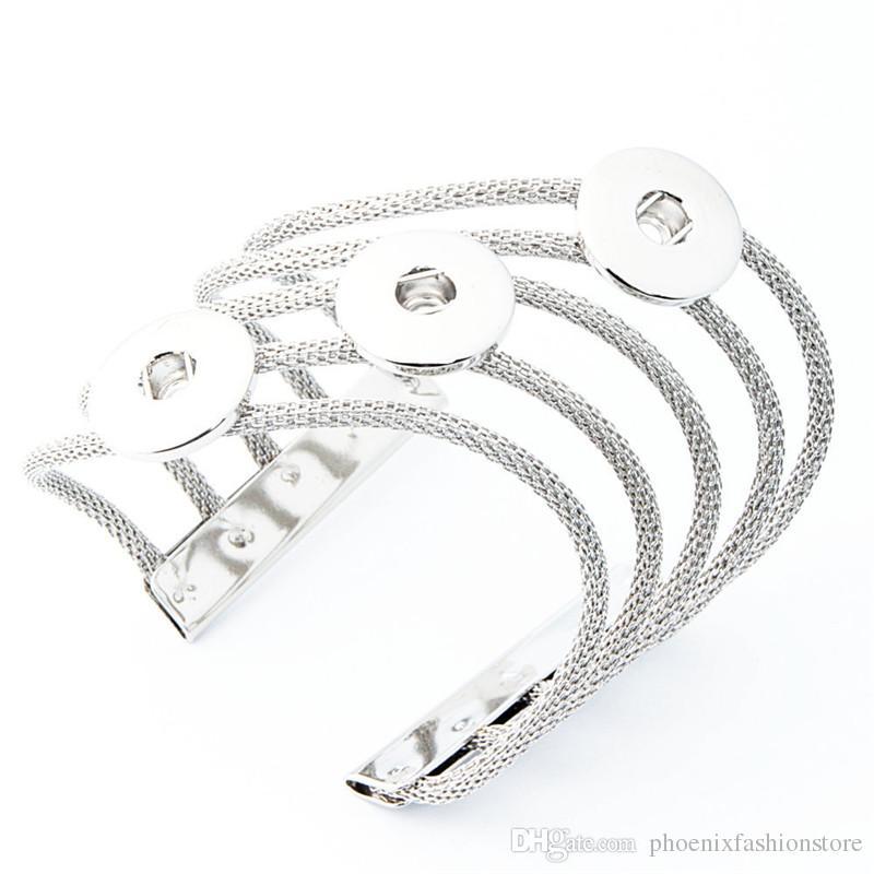 Snap-Armband-Armbänder passen DIY 18MM Snap Zubehör Alloy Armreif Weibliche Hochzeit Schmuck-One Direction Watche Frauen Charm Bracelet