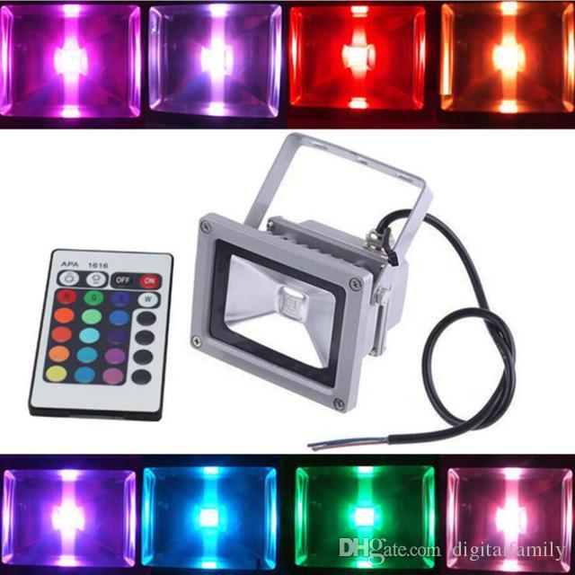 Outdoor RGB LED Flood Light Real High Power 10W 20W 30W 50W 100W schijnwerperlamp Waterdichte IP66 Lamp met afstandsbediening Vakantielichten