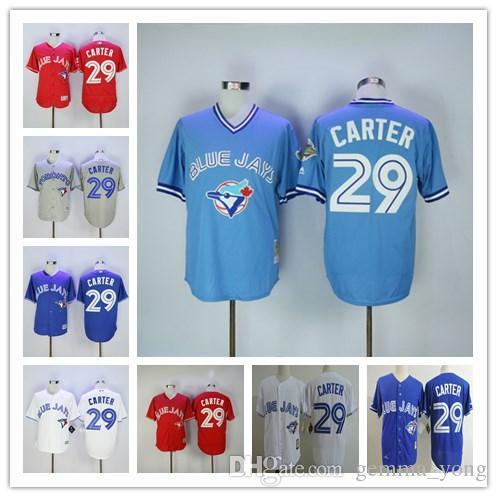 00ea51397 ... 2017 Joe Carter Toronto Blue Jays Jersey Baseball Red Blue White Grey Retro  Throwback Cooperstown 29 Toronto Blue Jays Jerseys ...