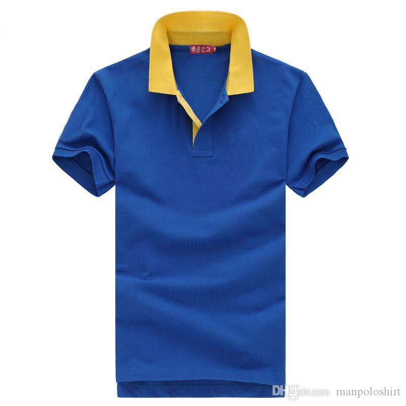 cb114693ee6 Compre Barato Al Por Mayor Erkek Polo Camisa 2017 Top Polo Camisa De Manga  Corta De Los Hombres Camiseta Polo Masculino De Manga Corta Con Cremallera  Envío ...