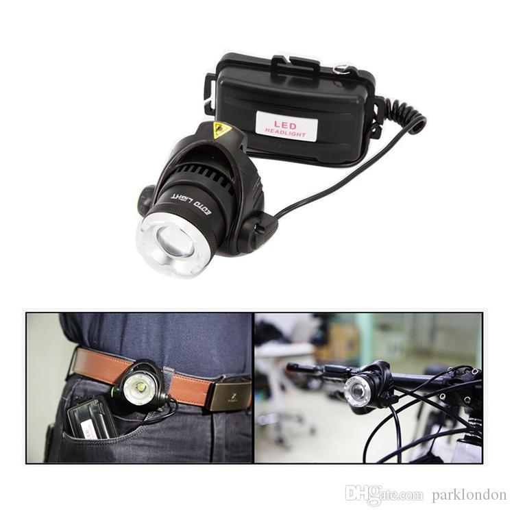2017 hot étanche LED phare CREE T6 phare avec 18650 batterie 2 chargeurs lampe frontale LED lampes de poche torche camping pêche