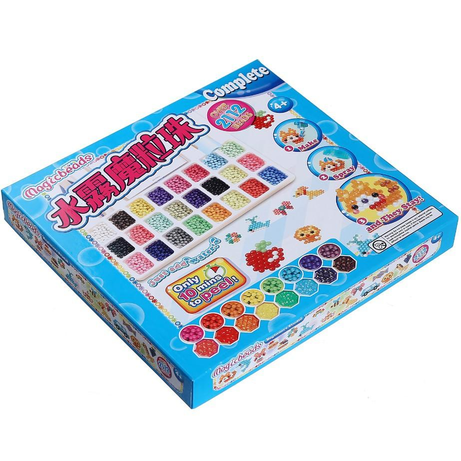 24 Colour DIY Water Sticky Magic Beads Pegboard Complete Set Fuse Beads Jigsaw Puzzle Water Beadbond Magically Joins With Water