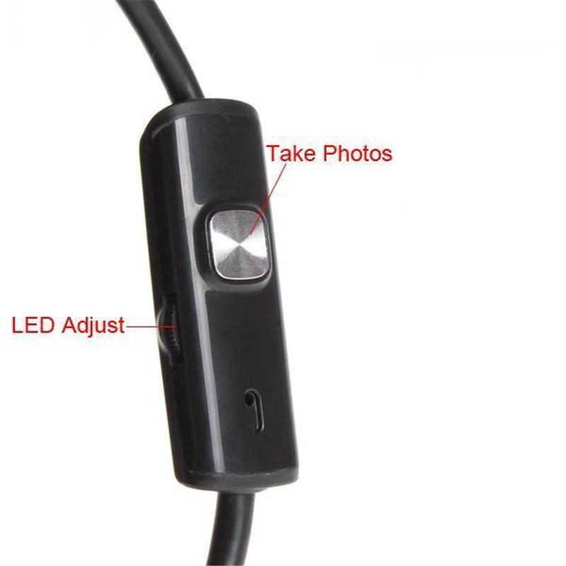 1M 2M 3,5M 3FT 6FT 10FT Android Endoscope USB d'inspection des appareils HD 6 LED 7mm Objectif étanche voiture Endoscopic Tube B1022