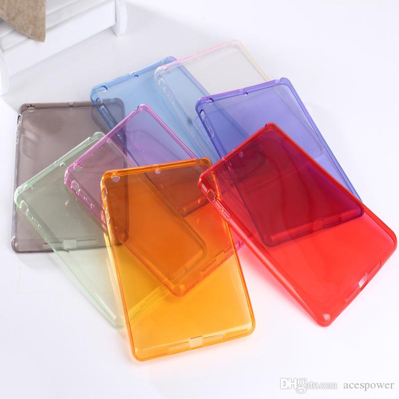 Para ipad air2 mini 5/4 ipad pro 10.2 tpu limpar caso macio transparente transparente pele de silício traseiro slim para maçã ipad6