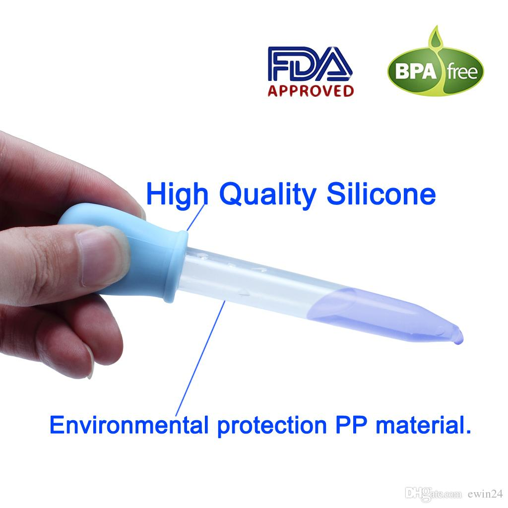Sakızlı Tatlı Kalıplar için sıvı Damlalıklı Pipetler Set 5 ML Bebek Damlalık Gıda sınıfı BPA ücretsiz