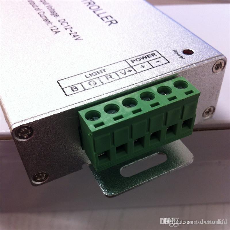 12A Telecomando wireless RGB Led 20 tastiere alloggiamento in alluminio, controller rgb DC12V-24V strisce e moduli RGB