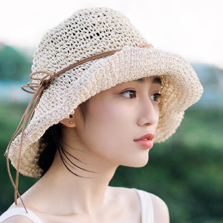 Wholesale 2016 New Raffia Handmade Crochet Soft Fold Straw Sun Summer Hats  For Women Girls Chapeau Femme Beach Hat Mother S Day Gift Straw Hat Tilley  Hats ... 89d8028a761
