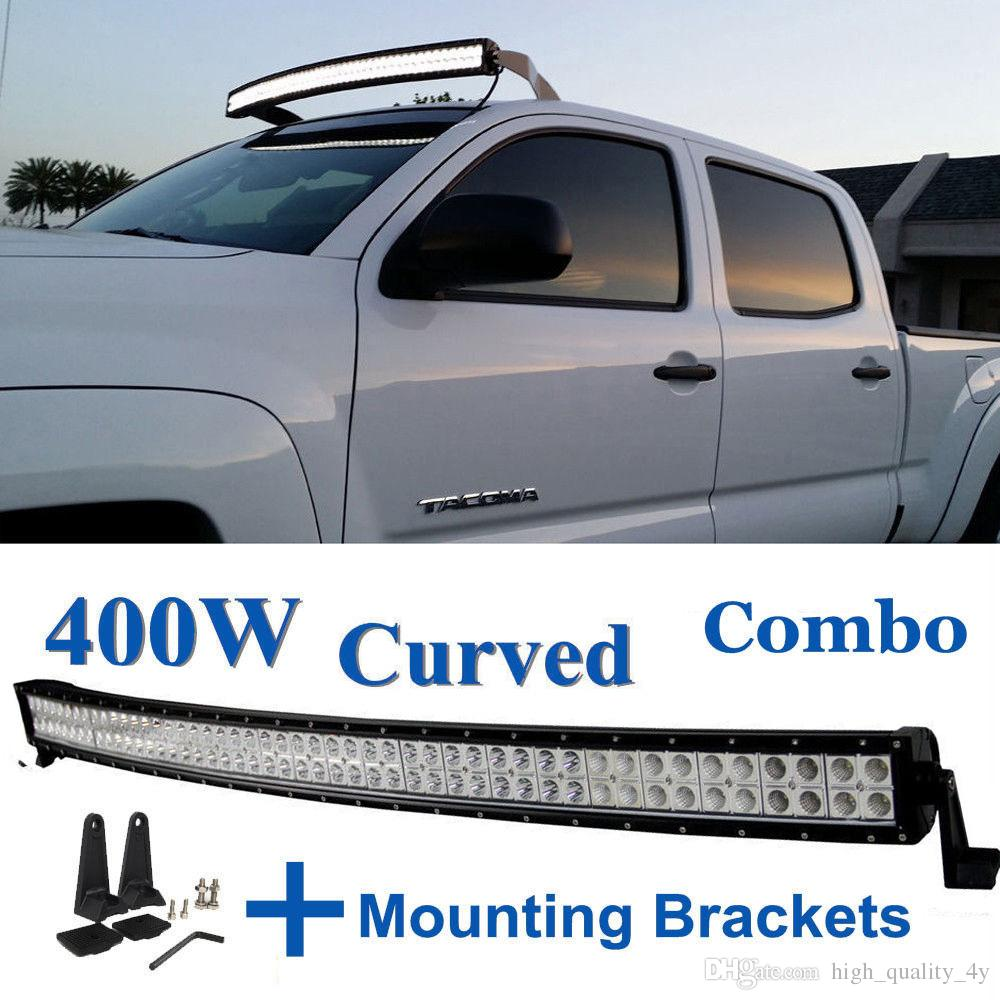 52 inch 400w high power curved led light bar for boat off road truck 52 inch 400w high power curved led light bar for boat off road truck jeep ford tractor trailer 4wd suv combo beam work fog roof driving lamp portable led aloadofball Image collections