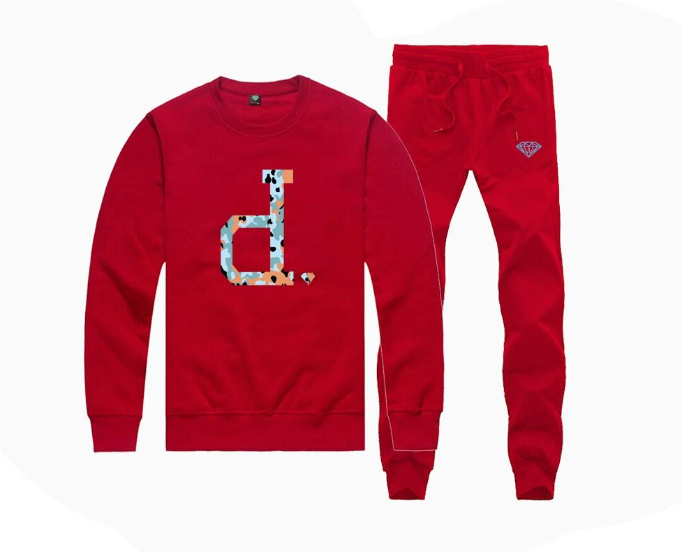 H8002415945 Hot-sale Diamond Supply Sweatshirts +PANTS suit for Men and Women Fleece Lined Hip Hop Skateboard Crewneck hoodies S-4XL