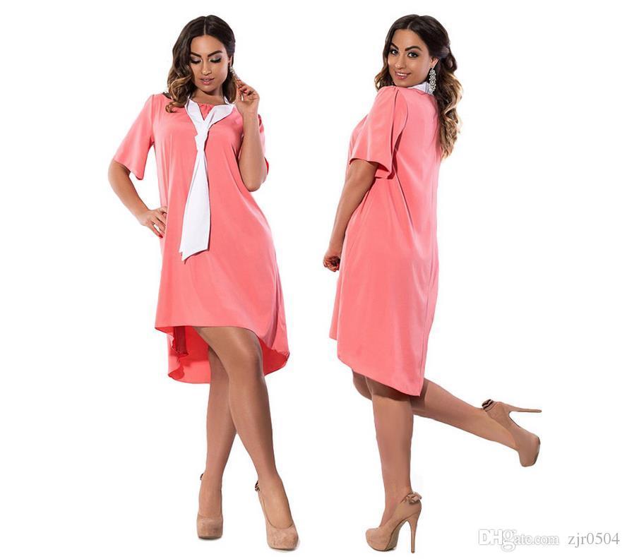 2017 Women Summer Dress Chiffon Dresses Plus Size L 6x Large Big