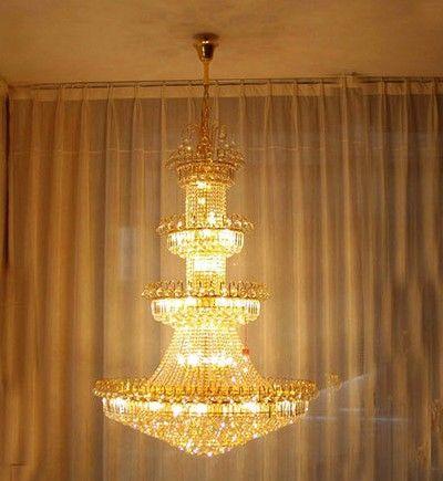 LLFA1506 Luxury villa living room chandelier crystal chandelier modern minimalist chandelier light long double staircase