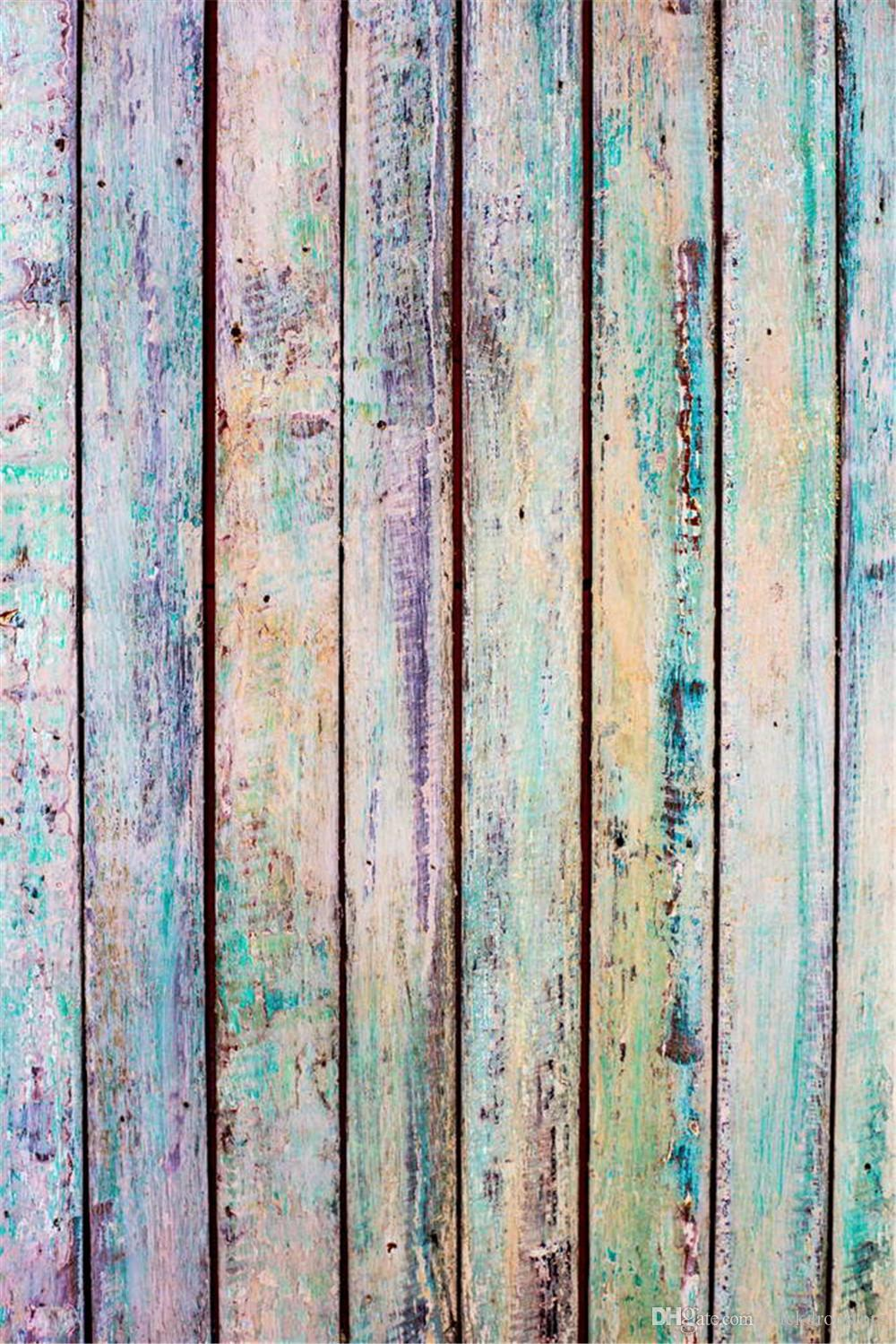 Wood Panel Background ~ Digital painted colorful wood panel background baby