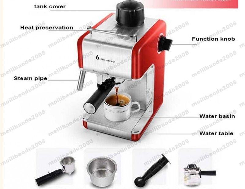 NEW Xeoleo 에스프레소 커피 메이커 CM6812 이탈리아 커피 머신 iBelieve 커피 메이크업 기계 세미 자동 MYY