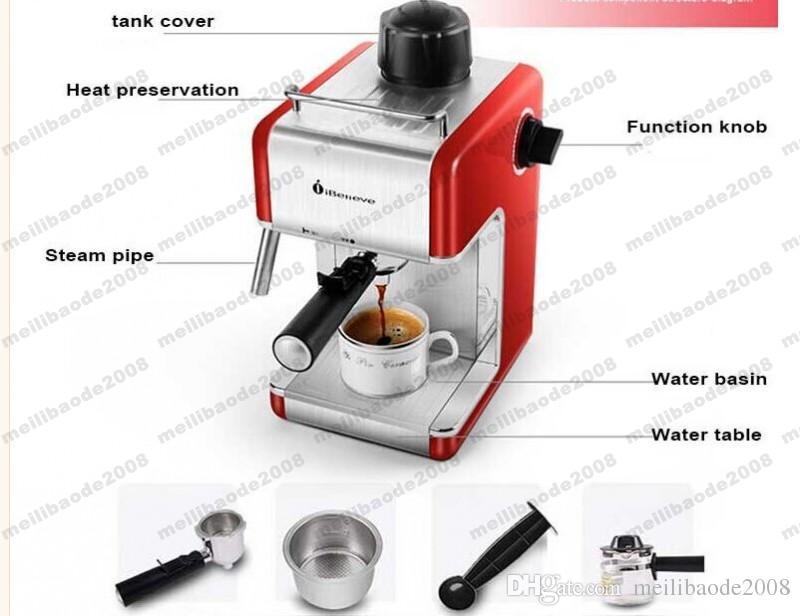 Новый Xeoleo Espresso Coffee Maker CM6812 Италия Кофемашина Ibelive Coffee Make Machine Полу автоматический Myy