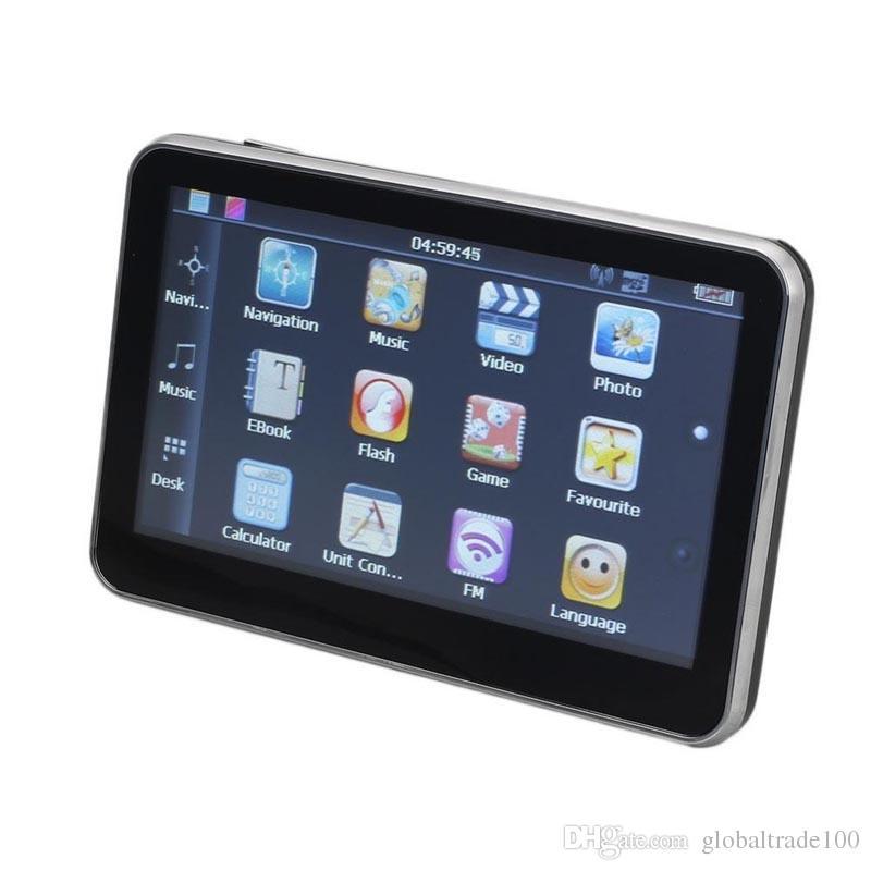 5 인치 자동차 GPS 네비게이션 네비게이터 MTK 128 메가 바이트 4G / 8G 승리 CE 여러 나라 최신 블루투스 AV와 함께