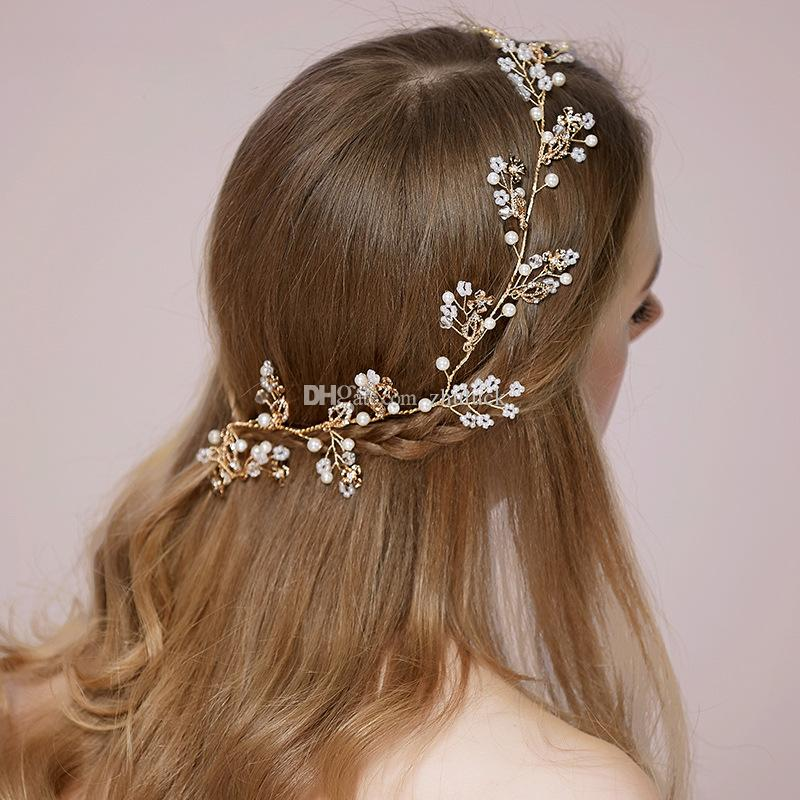 Fashion Spring Headpiece Wedding Hair Accessories Special Occasion Headbands Bridal Headband Tiara Headwear Bridal Crown Headband