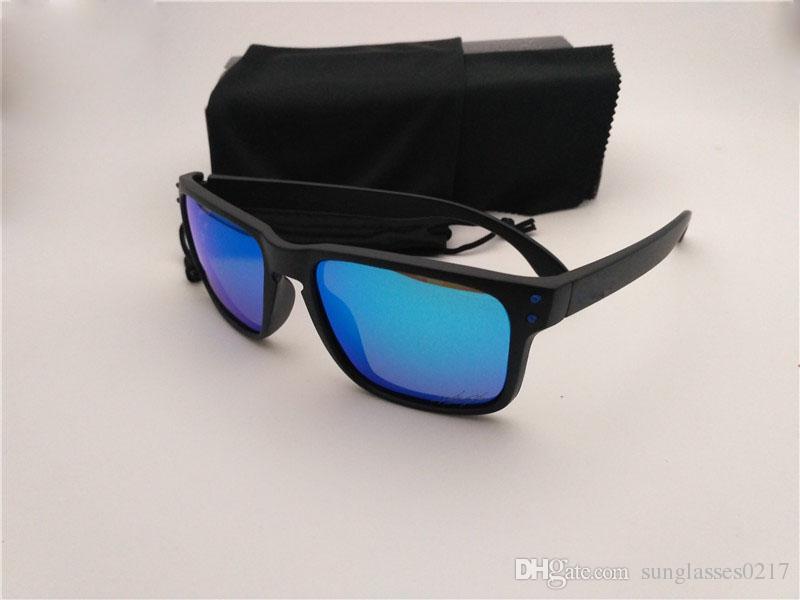 Calidad superior de las mujeres de los hombres gafas de sol de verano UV400 gafas de sol polarizadas hombre de sol del deporte de gafas de sol de oro con la caja
