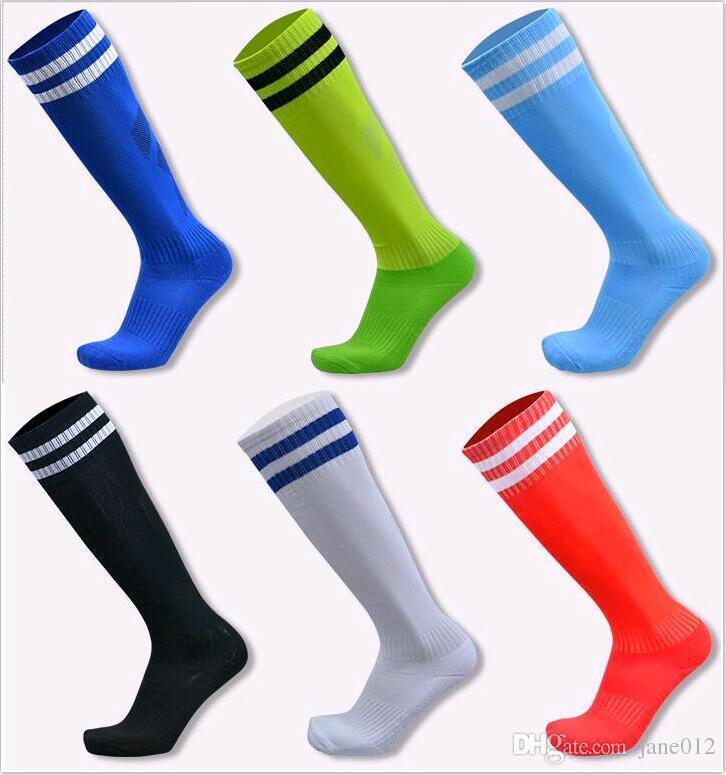 c488582d9 2019 Soccer Socks For Kids And Adult Football Stocking Over Knee Stripes  Long Tube Moisture Absorption Anti Skid Sports Socks From Jane012, $3.66 |  DHgate.