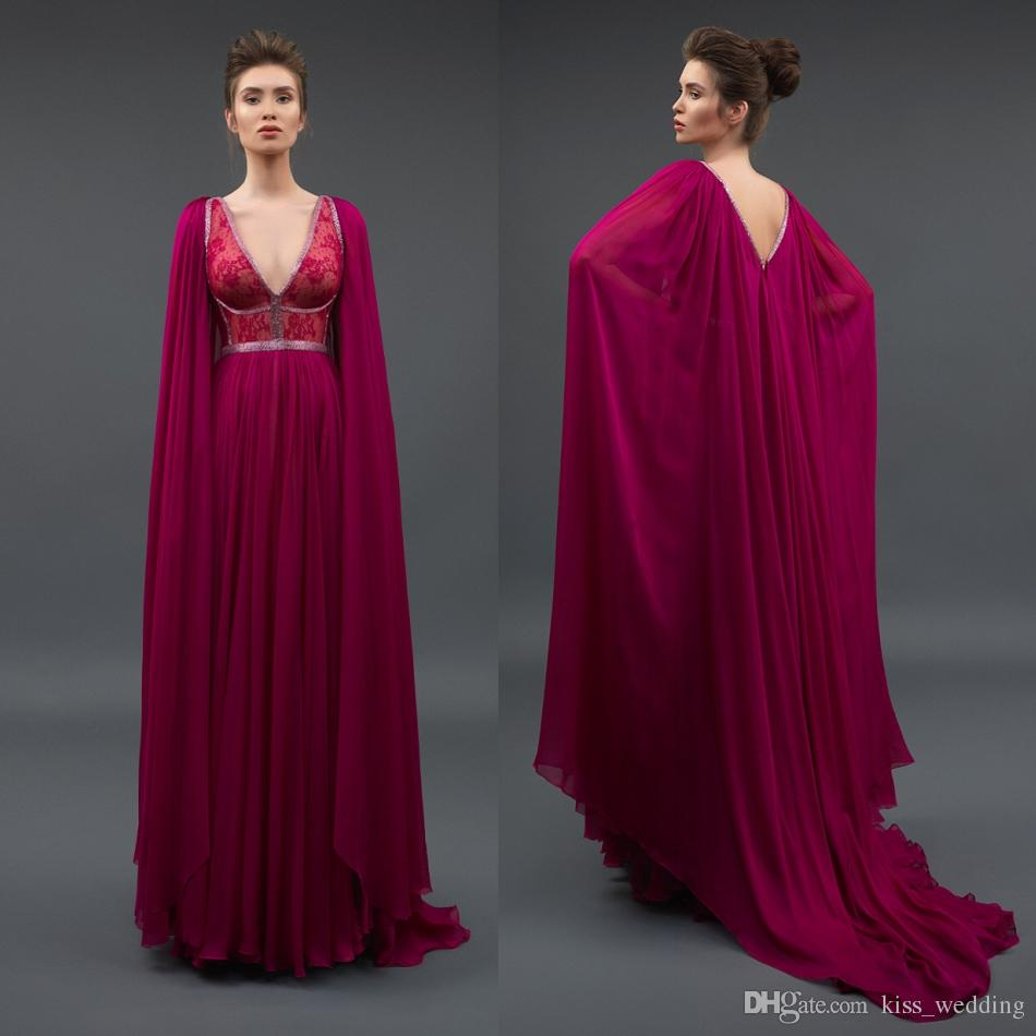 Evening Dress with Cape