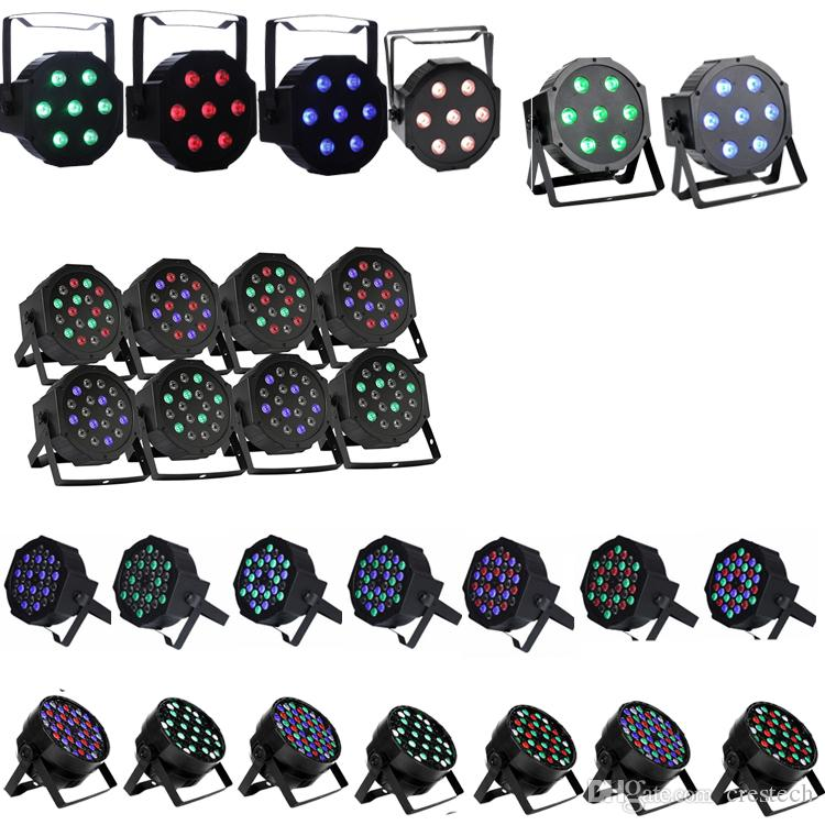 54X3W LED DJ PAR luz RGBW 162Watt DMX 512 Etapa de iluminación Disco proyector para Home Wedding Party Iglesia Concierto Dance Floor Lighting