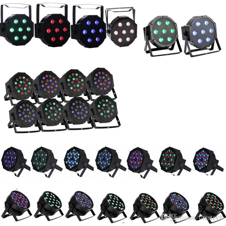 RGBW 54 * 3 Вт LED Par Light Этап DMX 512 светодиодный сценический свет 8 Каналов Плоский Led Par Может Сценическое Освещение Диско-Проектор