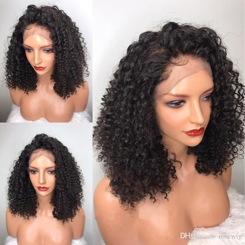 Full Lace Human Hair Wigs for Black Women Brazilian Virgin Hair Kinky Curly 8-26 inch Unprocessed Cheap 8A Glueless Full Lace Wigs