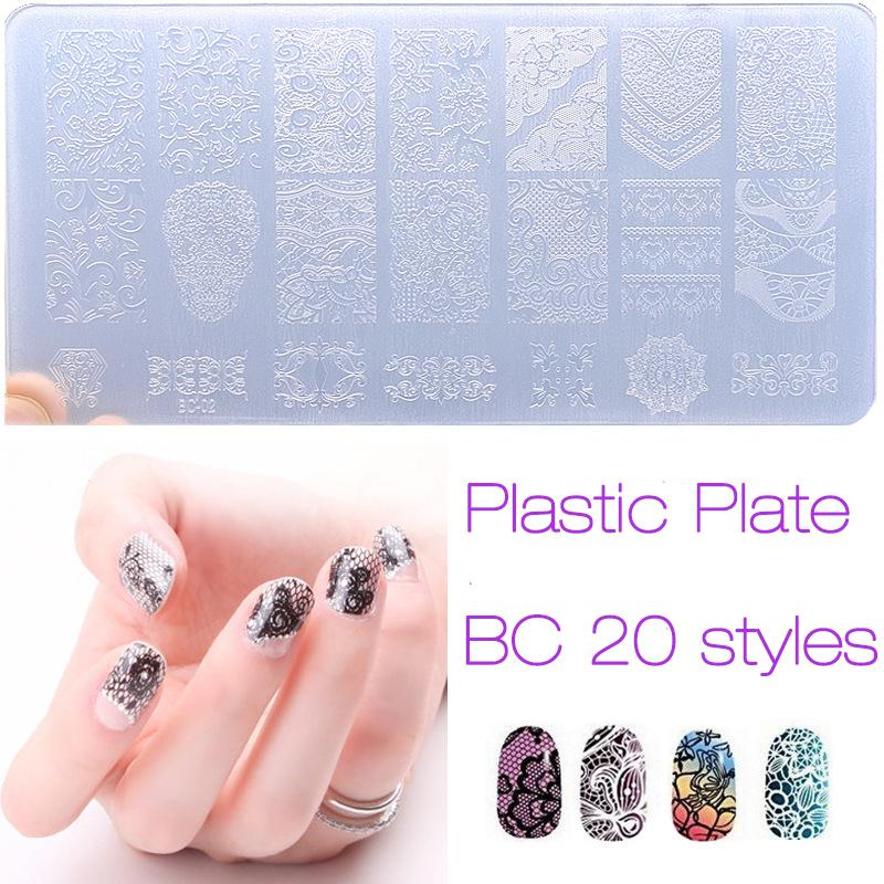 Wholesale New Nail Art Stamping Plate Engineering Plastic Plate Nail ...