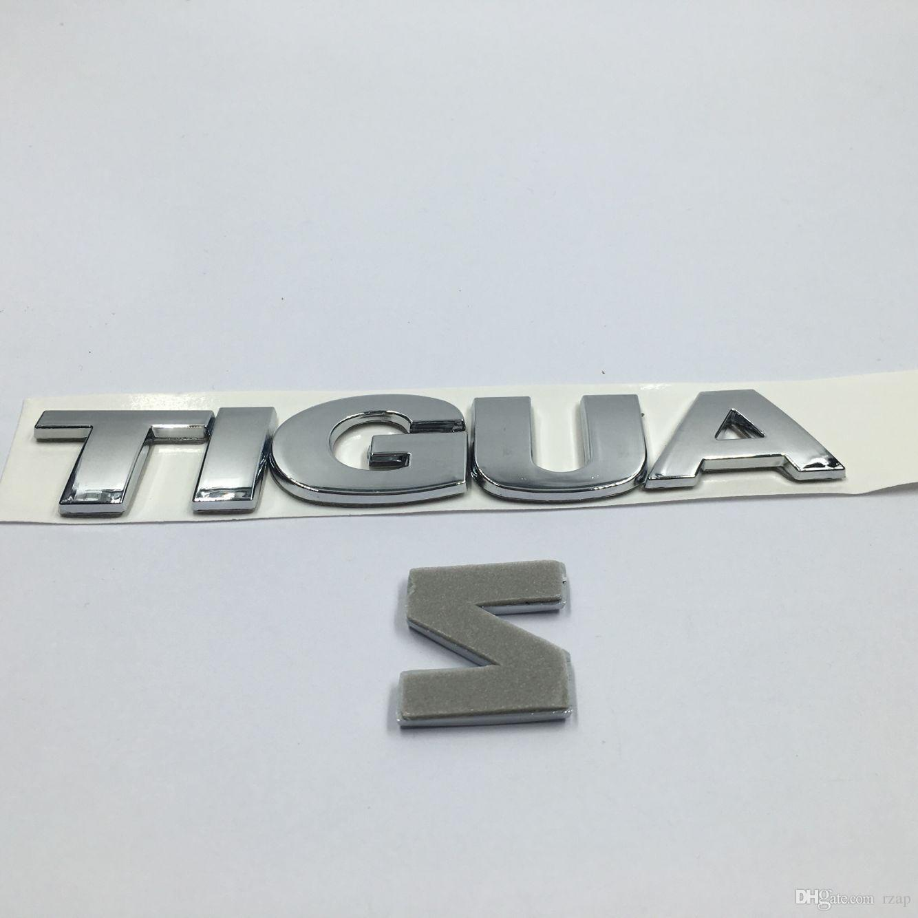 Car Rear Trunk Lid Chrome Emblem Badge Tiguan Letter Logo Sticker fit for VW Volkswagen Tiguan