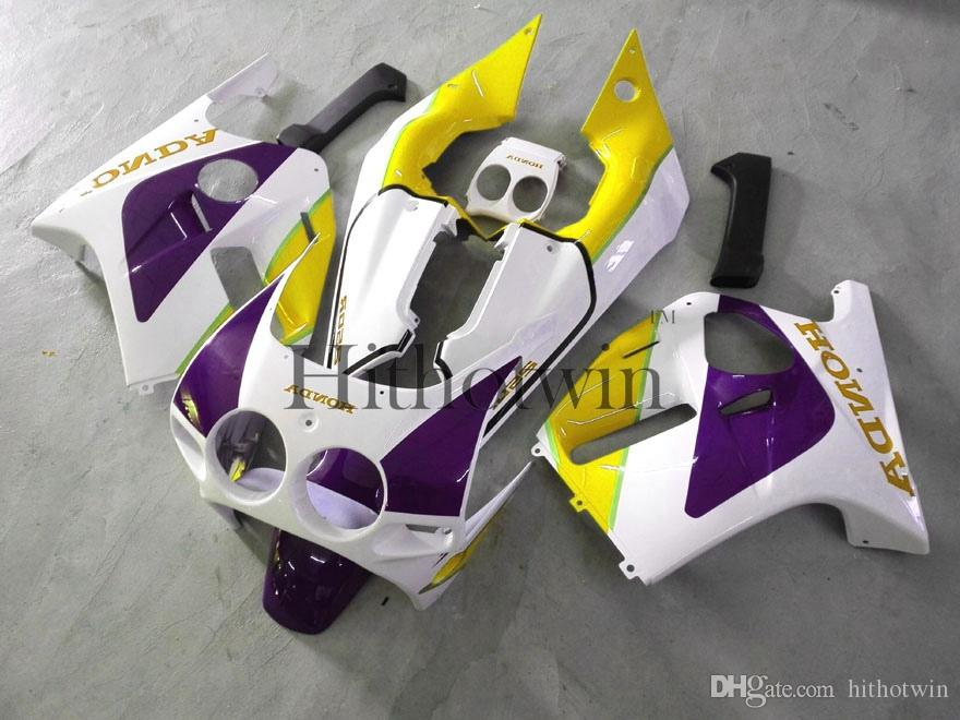 Gifts white purple Injection mold ABS Fairings For honda CBR250RR MC19 1988-1989 MC19 88 89 Aftermarket Motorcycle