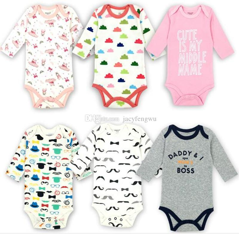 2019 Newborn Baby Clothing Baby Girls Boys Clothes Romper Cotton Short Sleeve  Jumpsuits Infant Rompers Children Toddler Boutique BB014 From Jacyfengwu cfebbb409f5