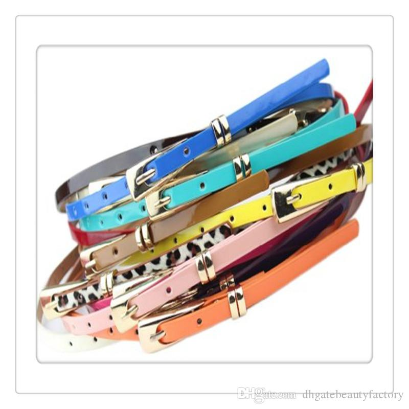 Hot Women Belts Slender Candy Buckle Waistband Thin Skinny Belts Dress For Women Dresses Belt Accessories Multicolor