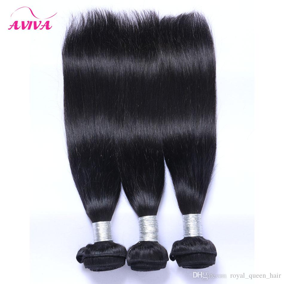 Mongolian Straight Virgin Hair Weave Bundles 3/Unprocessed Mongolian Silky Straight Remy Human Hair Extensions Natural Black Color