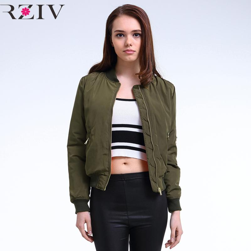 wholesale dealer 838d2 757c1 Wholesale-2016 Winter Flight Armee grün Bomberjacke Frauen Jacke und Damen  Mantel Kleidung Bomber Damen