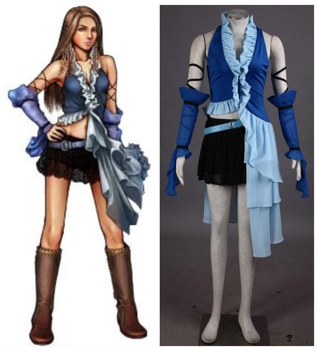 Cosplay Final Fantasi compre trajes de cosplay de final fantasy x yuna de hosiyoubi