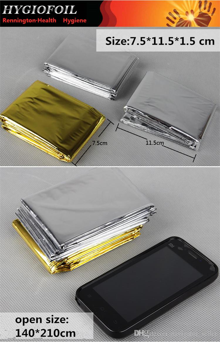 Waterproof Emergency Survival Rescue Blanket Foil Thermal Space First Aid Sliver Rescue Curtain Outdoor Gear Multifunction Pads