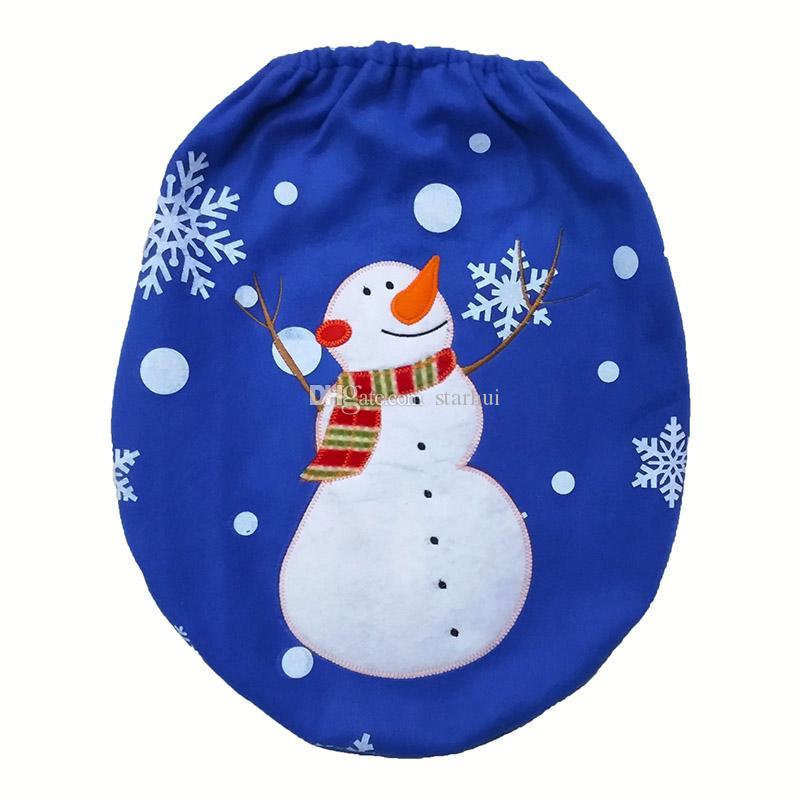 3 قطعة / مجموعة ثلج عيد الميلاد الديكور مقعد المرحاض يغطي سجادة فندق الحمام مجموعة هدية عيد شحن مجاني WX9-92