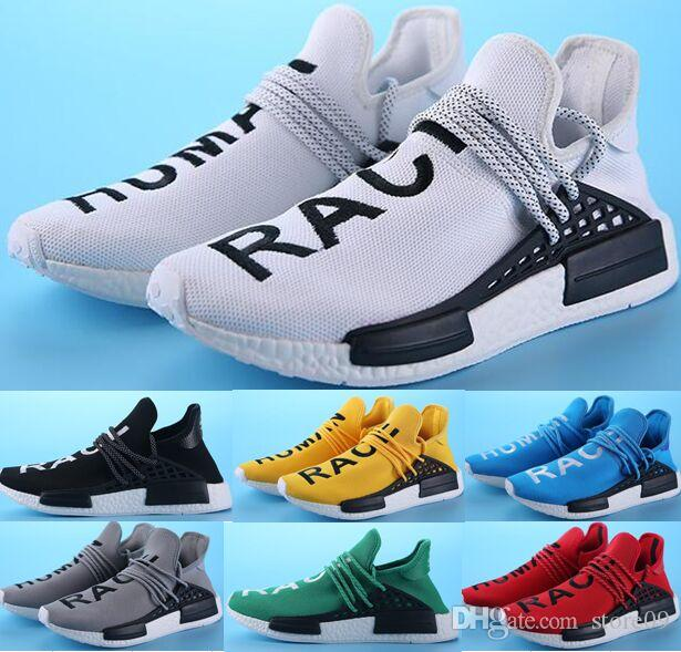 9e0790539 New Men Women Pharrell Williams Original Human Race Truth Sneakers Shoes  Running Sports Shoes Ship With Box + 1 Socks On Running Shoes Best Womens  Running ...