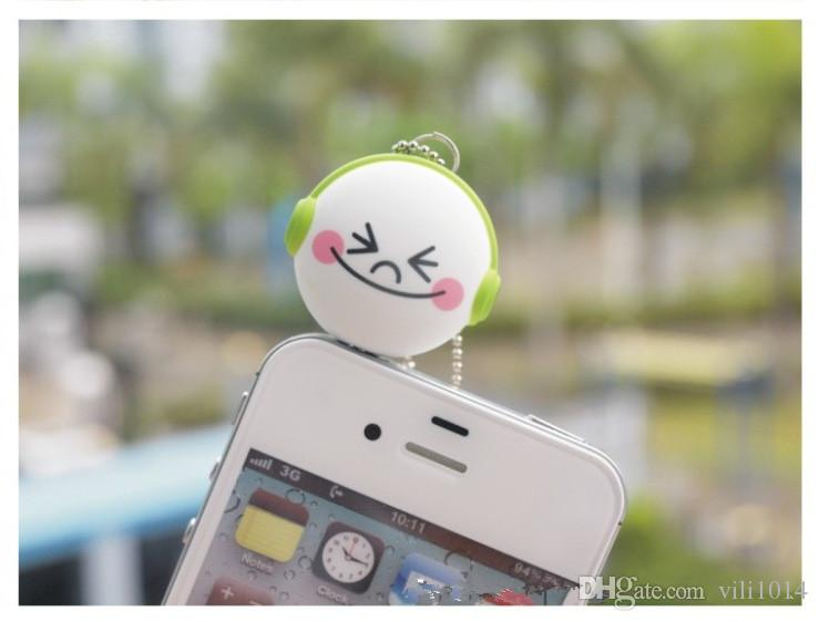 Cartoon Headset Deconcentrator One to two Music Sharing Device 3.5mm Anti Dust Plug Cell Phone Accessories Animal For Iphone All Phone