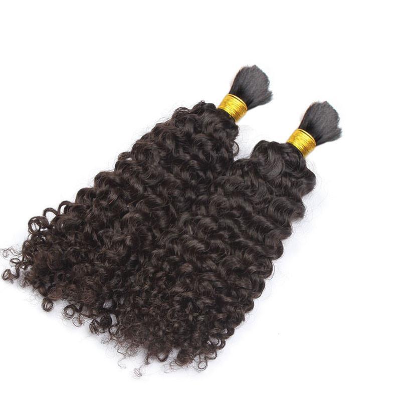 muito 8A não transformados Afro Brasileira Kinky cabelo encaracolado trança Humano aparente Não há trama do cabelo para Africano American Natural Cabelo Preto