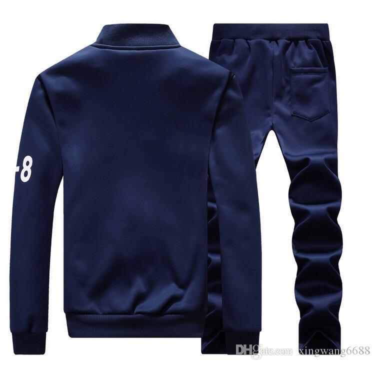 Sudaderas Hombre capucha nueva moda chándales Y-8 de los hombres de los pantalones de abrigos para hombre + Sporting chándales de deporte para hombre sudaderas