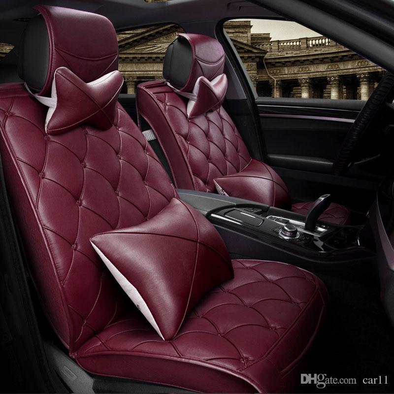 luxury leather car cushion have pillows universal for nissancar seat car covers auto protection car seat covers car seat covers waterproof