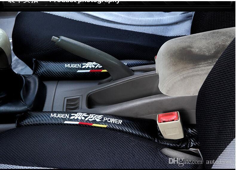 nisimo power racing car auto camión fibra de carbono bordado asientos Gat Stop Gap llenador Holster para BMW