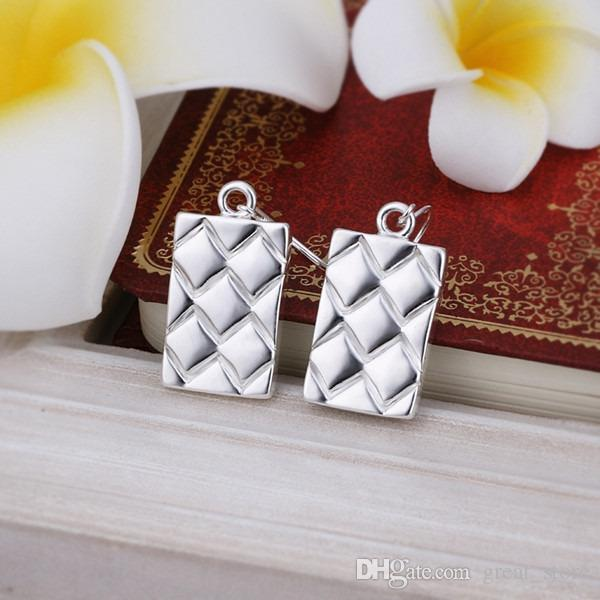 Хороший ананас++ полосками серебряные серьги плиты GE376,женщин 925 серебро мотаться люстра серьги