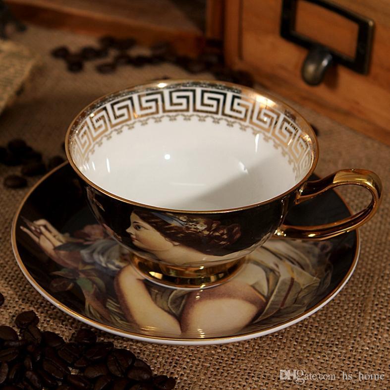 Haute qualité aristocratiques Creative style européen Bone China Cup Coffee, les détails Traditional Craft Of The Beautiful, l'après-midi Tea Time.