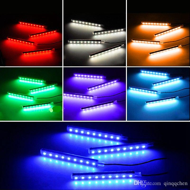 Universal Infrared Remote Control Car Interior Floor Decorative Lights RGB Atmospher LED Light Strip Ambient Light music control