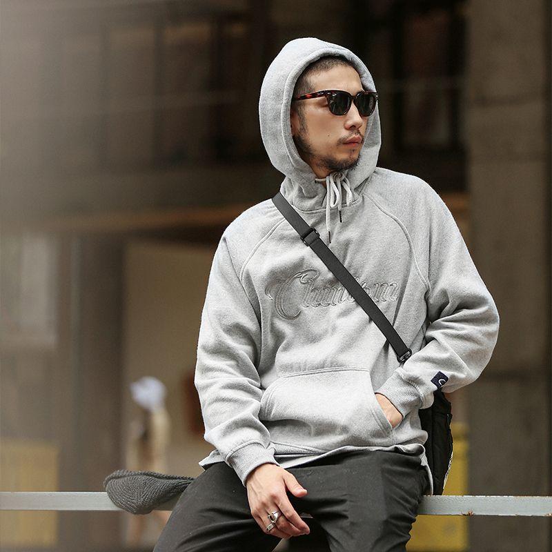 Осень зима новые мужские с длинным рукавом толстовка толстовка модный бренд вышивка свободные Мужские толстовки спортивная одежда