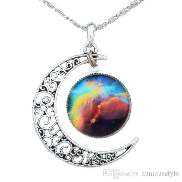 752dbd7ba9 Wholesale Sun Moon Necklace, Auniquestyle Lovely Cabochon Alloy Hollow Moon  Pendant Necklace Silver Chain Moon Sun Choker Pearl Pendant Necklace Cheap  ...