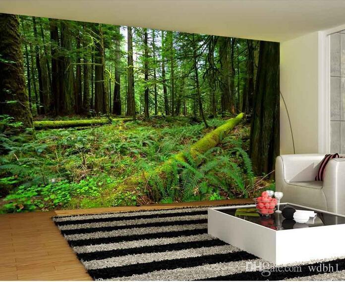 3d tapete kundenspezifisches foto vlies wandbild Virgin wald grün landschaft dekor malerei bild 3d wand muals tapeten für wände 3 d