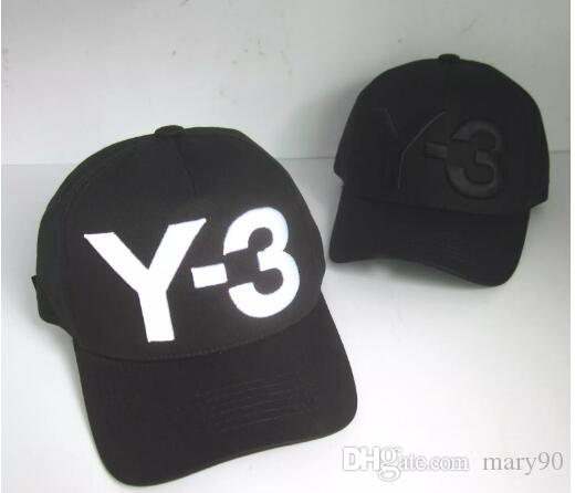 Hot Sale 2017 New Y 3 Dad Hat Big Bold Embroidered Logo Baseball Caps  Adjustable Strapback Hats Y3 Bone Snapback Sport Casquette Visor Gorra  Custom Hats ... 0a50c8d930e